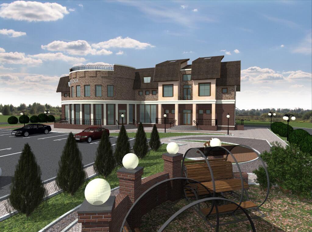 Эскизный проект торгово-офисного здания в Шебекинском районе