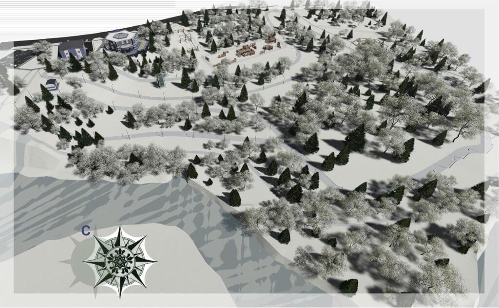 Эскизный проект многофункциональной спортивной площадки в г.Новый Уренгой