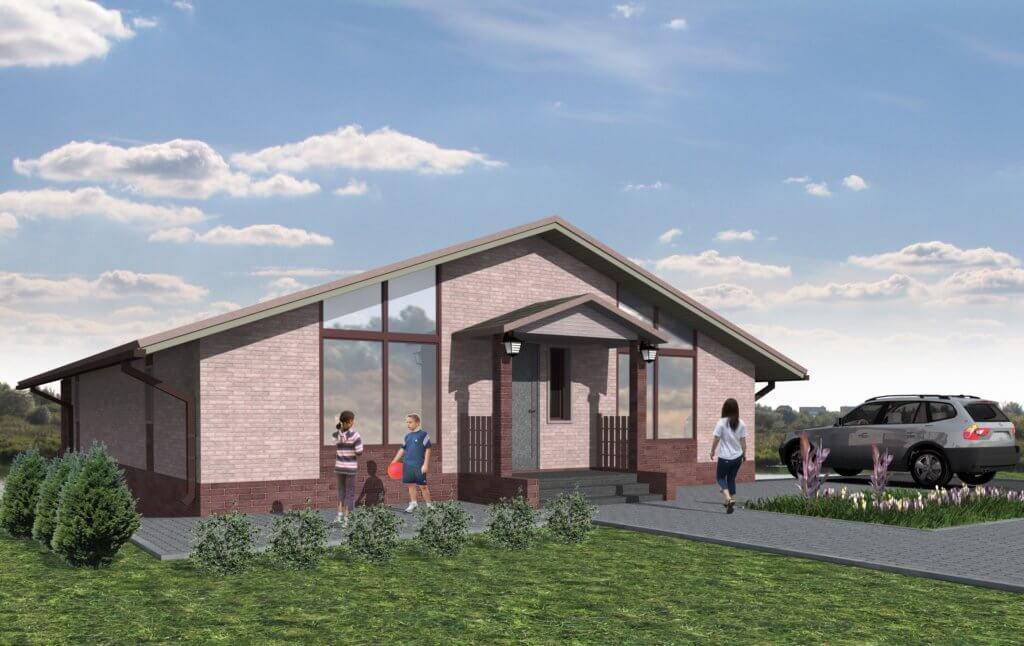 Эскизный проект индивидуального жилого дома и 3D визуализация